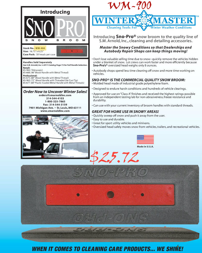 WM-900 SNO PRO SNOW BROOM